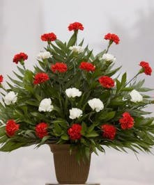 The Catholic Tribute Carnation Arrangement