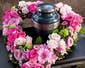 Urn Heart Arrangement