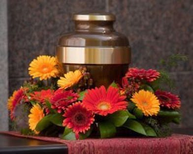 Urn Wreath with assorted color of gerbera daisies
