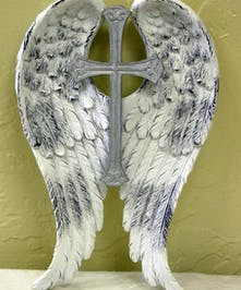 Keepsake Angel Wings with Cross in the middle