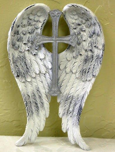 Keepsake Angel Wings with Cross in the middle