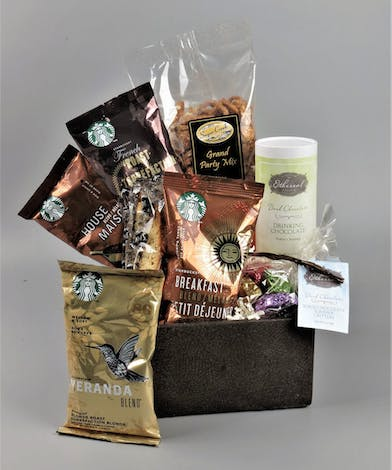 Starbucks assorted packaged coffee box with chocolates