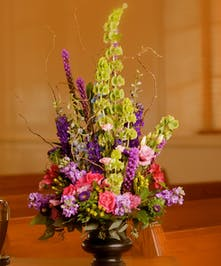 Vase with garden mix of flowers