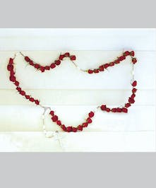 Rosary made with red roses