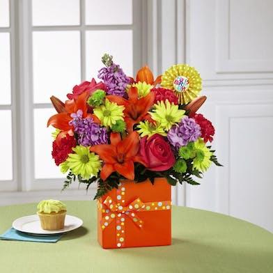 Birthday Flowers in a keepsake Birthday Box