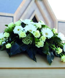 Youth Casket Spray in all white flowers