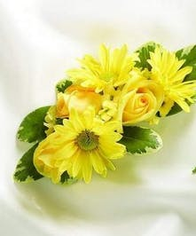 Yellow Daisies and Yellow Roses Corsage