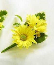 Yellow Daisy Boutonniere
