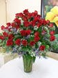 48 Red Roses with Premium Accent Flowers