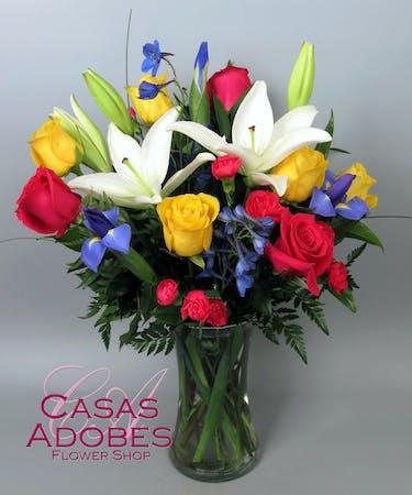 Elegant Tucson Az Anniversary Flowers In Vase Casas Adobes Florist