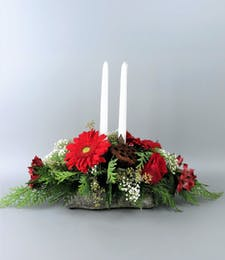 Holiday Yule Log Centerpiece